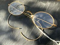 "Vintage 1940s/1950s ""HADLEY"" GOLD PLATED SPECTACLES / EYEGLASSES"