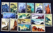 Stamps Used China 1963 Hwangshan Landscapes Set SG2124 - SG2139 288 8/12ft953