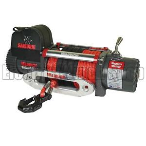 Warrior Samurai 9500 12v Next Generation V2 Electric Winch with Synthetic Rope