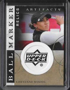 2021 Upper Deck Artifacts LPGA Golf Cheyenne Woods Ball Marker Relic SP Card