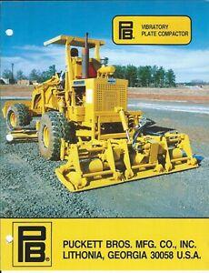 Equipment Brochure - PB Puckett Bros - Vibratory Plate Compactor - c1988 (E6288)