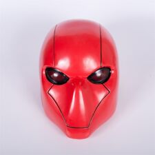 New Red Hood Mask Cosplay Batman Wayne Full Head Helmet Halloween Mask Prop