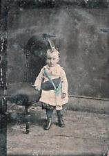 ORIGINAL  VICTORIAN Tintype / Ferrotype Photograph c1860 YOUNG CHILD PORTRAIT