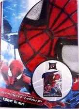 Marvel Comics Kids Boys Spider-Man Bed Set Pillow Case Duvet Cover NWT
