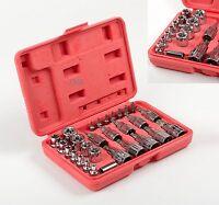 Male Female Torx Star Socket & Bit Set E & T Sockets with Torx Bits - 30pc