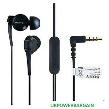 Black Sony Handsfree Audio Earphones With Mic For Xperia U ST25i ST25 MH-EX300AP