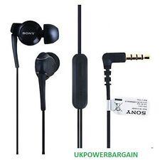 Nera Sony Vivavoce Audio Auricolari Con Microfono Per Xperia U ST25i ST25