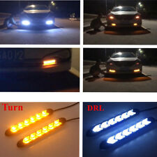 2x180mm White/Amber LED Strip Lights Tube Headlight DRL Drive Signal Switchback