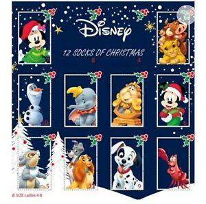 Disney Ladies Sock Advent Calendar 12 Days Christmas Birthday Gift Set