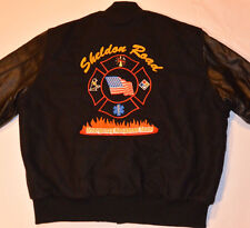 HOLLOWAY EMERGENCY RESPONSE TEAM WOOL/LEATHER BLACK JACKET! EMBROIDERED! USA! XL