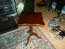 "1994 BOMBAY COMPANY Folding Wood Side Table 14"" X 14"" X 22"" tall VG !"