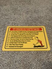 Funny Golf Sign