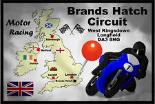 MOTOR RACING (BRANDS HATCH) - SOUVENIR NOVELTY FRIDGE MAGNET FLAGS / MAP / GIFTS