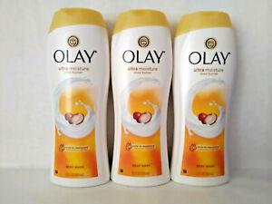 Olay Ultra Moisture With Shea Butter Body - 22 fl oz (650 ml) X 3
