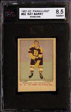 1951-52 PARKHURST HOCKEY #32 RAY BARRY ROOKIE CARD BOSTON BRUINS KSA 8.5 NM-MT+