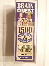 New Sealed Brain Quest Double Set Grade 6 Edition Educational Game Ages 11-12