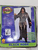 Size Up to 44 In Men's Black Robe Costume Cosplay Halloween Scary Costume Rubies