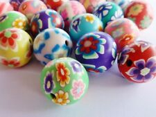 20 pce Handmade Polymer Clay Round Beads about 16mm Jewellery Making Craft