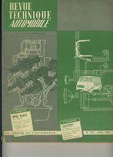 (105A) REVUE TECHNIQUE AUTOMOBILE OPEL KADETT / CITROEN 2CV