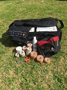 Sports Trainers Tape Starter Kit Pack-Rigid,EAB,Fix,Massage Oil,Scissors,Bag,Bum