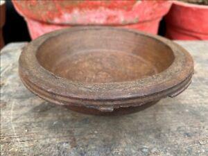 Antique Old Wooden Snack Fruit Vegetable Serving Bowl