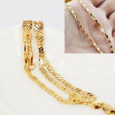 18K Yellow Gold Plated Link Chain Cheap Elegent Chain Necklace Jewelry Flat