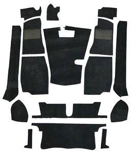 Black Carpet Set - High Quality(Suits MG MGB Roadster)