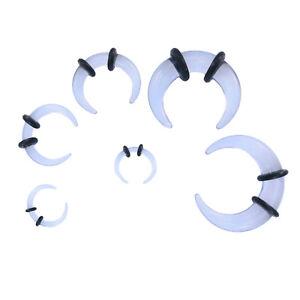 Acrylic Ear Stretching Pincher Taper Buffalo Bull Horn Plug
