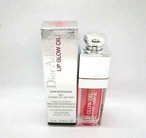 Christian Dior Addict Lip Glow Oil Cherry Oil Infused ~ 001 Pink ~ 0.20 oz