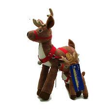 "Hallmark Warner Brothers POLAR EXPRESS Reindeer 13"" and 7"" Plush Stuffed Animal"
