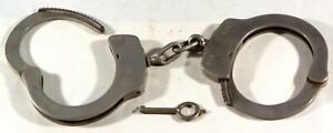 "Antique Italy ""New Police"" Handcuffs Police Prison Restraints Old Italian"