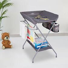Portable Changing Table Changing Station with Safety Belt for Newborn Baby
