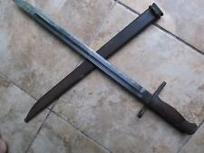 Nice WWII Japanese Steel Bayonet & Scabbard, DOUBLE ARSENAL, Okinawa Marine Vet