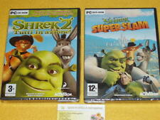 SHREK 2 + SHREK SUPER SLAM x PC  2 GIOCHI DIVERTENTISSIMI TOP! ...IDEA REGALO !!