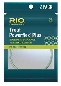 Rio Trout powerflex Plus leaders 2 pack 12 foot 2X12 lb 2ea packs 4 leaders