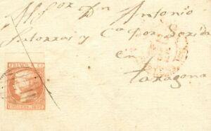 España. Cataluña. History Postal. Edge Of Hoja. To