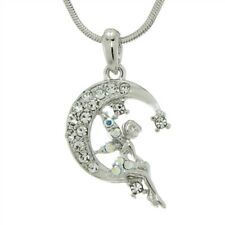 W Swarovski Crystal TINKER BELL Tinkerbell Moon Fairy Charm Color Pendant Gift