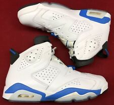 Jordan Retro VI 6 Sport Blue White Black Infrared 384664-107 Sz 12