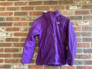 The North Face  Dark Purple Fold  Away Hood Full Zip Rain/Windbreaker Jacket L/G