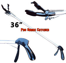 "36"" Pro SNAKE TONGS Reptile Grabber Rattle Snake Catcher WIDE JAW Handling Tool"