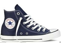 NEW Converse All Star Ox Hi Top Canvas Trainers White Black Grey UK Size 3 4 5 6