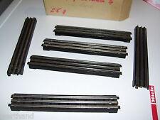 6 Stück Trix Express 20/1 bzw. 1354 6 Bakelit-Gleise gerade