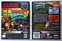 Donkey Kong Country 2 Diddy Kong - Super Nintendo SNES Custom Case *NO GAME*