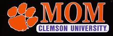 "CLEMSON TIGERS ORANGE PURPLE MOM DECAL STICKER 2 3/4"" X 7 1/2"""