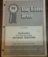 Ih Blue Ribbon Service Manual Gss 1253 For T4 T5 Td5 Crawler Hydraulics