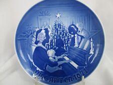 Bing & Grondahl 1971 Christmas At Home Playing Piano Annual Christmas Plate