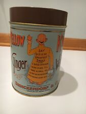Vintage Yellow Kid Ginger Wafers Tin Brinckendorf  Co.