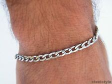 MEN'S CLASSIC LINK CHAIN  STAINLESS STEEL 316L BRACELET 01