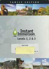 Instant Immersion: German Levels 1, 2, & 3 Family w/ Guide Pc Mac Dvd language