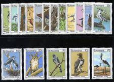 Bechuanaland 1978 QEII Botswana Birds set complete MNH. SG 411-427. Sc 198-214.